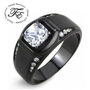 Men's Black Wedding Band Or Promise ring